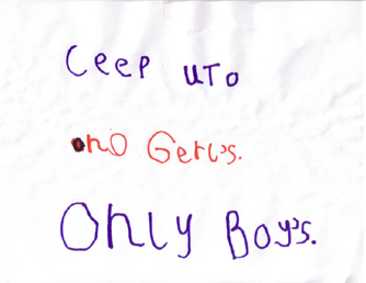 Ceep UTO, no Gerl's.  Only Boy's.